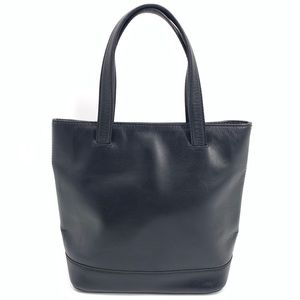 Cole Haan Black Leather Small Tote Bag